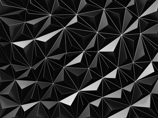 Abstract black triangle pattern wall background