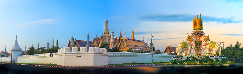 Poster Bangkok Wat Phra Kaew is most popular and landmark in bangkok ,Thailand (2 jan 2017)