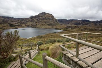 viewing platform above the Cajas national park Ecuador