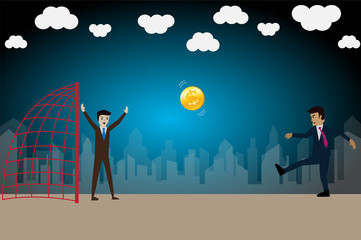 Business success, try to safe goal