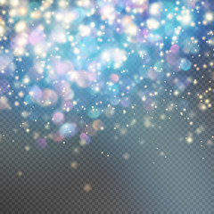 Stardust on a transparent background. EPS 10