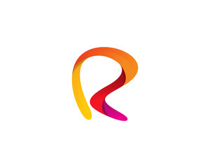 Letter R Abstract Logo Design Element