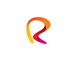 Letter R Abstract Logo Design Element