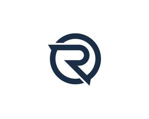 Letter R Circle Logo Design Element