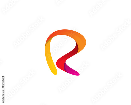 """Letter R Abstract Logo Design Element"" Stock image and ..."