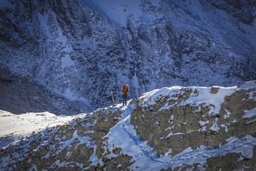 Bergwandern und Bergsteigen im Winter am Säntis