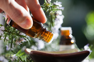 préparation avec des huiles essentielles