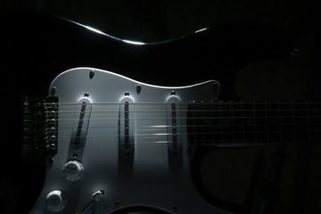 Electric guitar in the dark