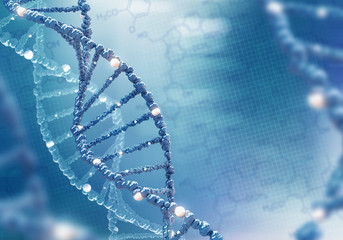 DNA helix on the colored background, scientific conceptual background