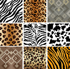 Seamless Animal Print Tiles