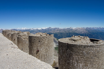 italian riuned artillery turrets
