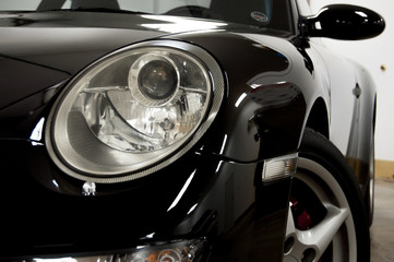 Sports car headlight and side
