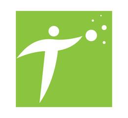 Logo Concept with a Person