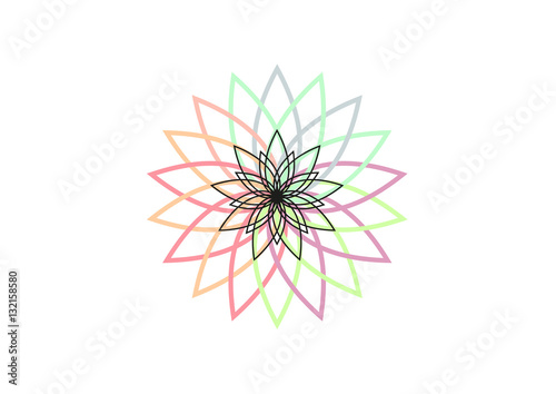 Lotus Flower Vector Illustration Buddhism Symbol Logo Or Icon