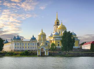 Monastery Stolobny Island. Seliger. Russia