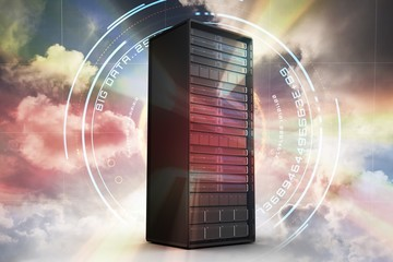 Composite image of server tower 3d