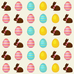 Easter seamless vector pattern