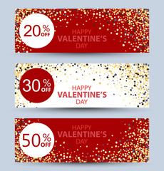 Valentine's day collection sale banners
