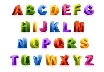 3D Alphabet Letter Set