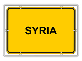 SYRIA - Traffic sign