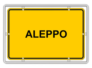 ALEPPO - Town sign