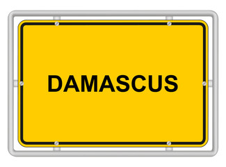 DAMASCUS - Town sign