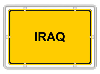 IRAQ - Traffic sign