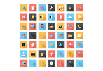 49 Square Tech and Media Icons