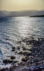 Sea of Galilee Capernum from Saint Peter's House Israel