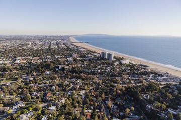 Santa Monica California Aerial View