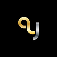 Initial Letter GY AY Rounded Lowercase Logo