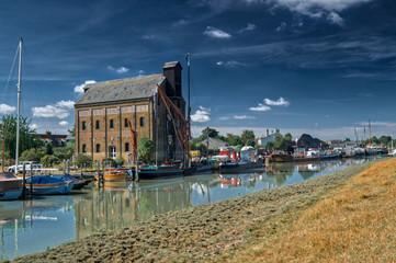 The Faversham river front, which is actually a swale