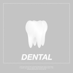 Tooth icon flat design style.