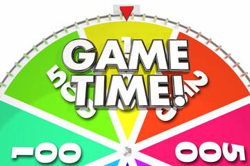 Game Time Spinning Wheel Fun Gaming 3d Illustration
