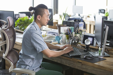 Designer working in the office