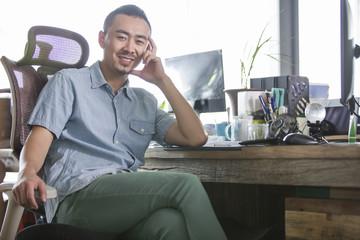 Portrait of designer in the office
