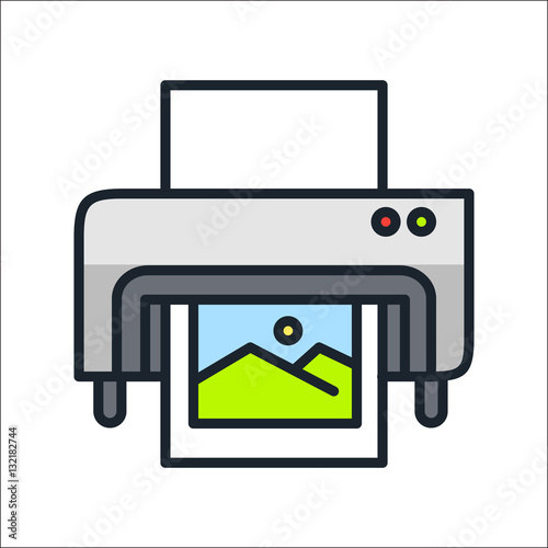 """digital printing icon color"" Stock image and royalty-free ..."