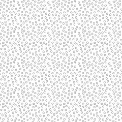 Seamless background with random elements. Tileable ornament. Dotted abstract background. Black and white pattern