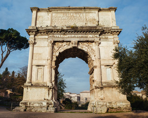 Wall Murals Algeria Arch of Titus in the Forum of Rome