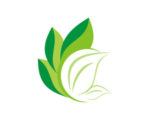 green leaves plant icon