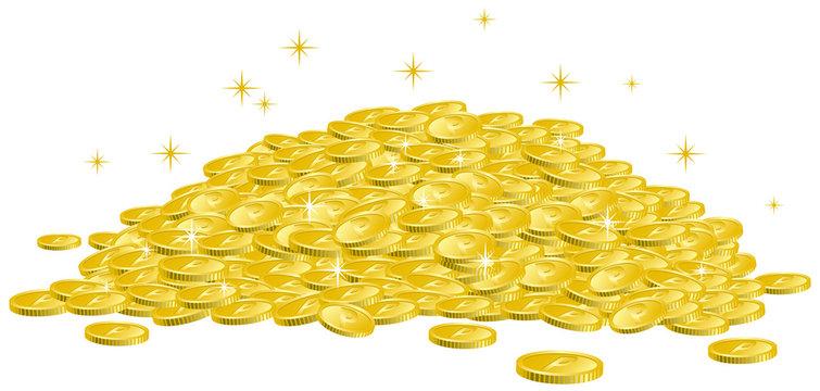 コインの山 イメージイラスト