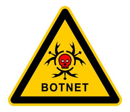 wso275 WarnSchildOrange - botnet - Computer Hazard Sign - mss6 MaliciousSoftwareSign mss - skull virus icon triangle xxl g4899