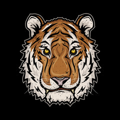 The head of the Tiger. Vector illustration