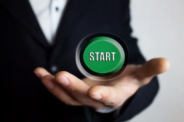 button start business concept