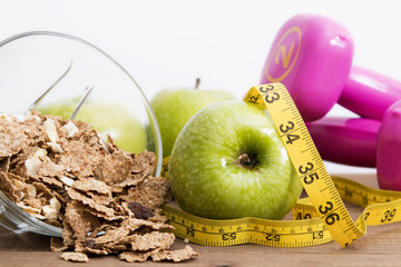 concept of diet and healthy eating