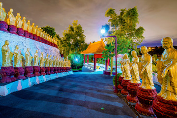 Buddha statues and temple