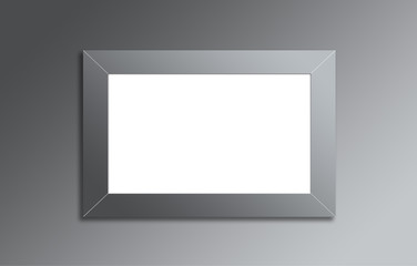 Blank light box, photo frame mock up