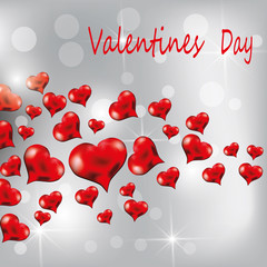 Valentine's Day greeting web banner. Vector illustration.