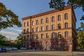 Denkmalgeschützte ehemalige Feuerwache im Berliner Stadtteil Alt-Lietzow