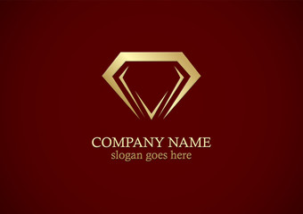 diamond abstract gold logo